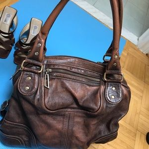 Leather bag (brushed)